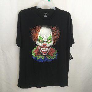 New Scary Evil Clown Halloween TShirt XL